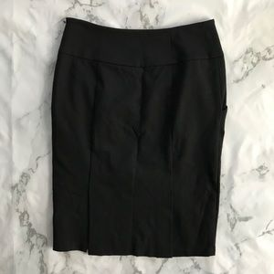 Black pencil skirt with double slit